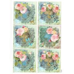 ***papier cienki A-4 1699 obrazki kwiaty