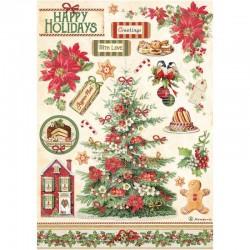 papier ryżowy A-4 DFSA4594 christmas pod choinką