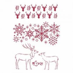 szablon 21*29,7 KSG478 zimowe love winter tales