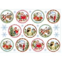 ***papier ryżowy 32*45 cm ramki świąteczne 45423