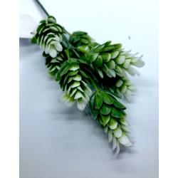 szyszka biała 4,5cm na drucie /pęk 7szt