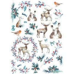 papier ryżowy A-4 R1629 świąteczne zwierzęta