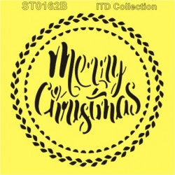 szablon 16*16cm merry christmas ST0162B