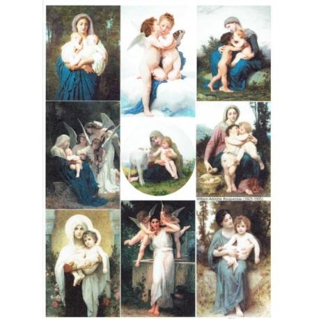 papier ryżowy A-4 R1894 anioły