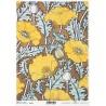 *** papier ryżowy A-4 R 1853 tło żółte kwiaty