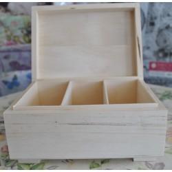 drew.szkatułka 3-przegrody 20*14,5*9 cm