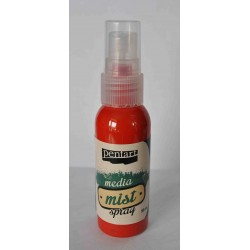Pentart farba mixmedia spray czerwony  50ml