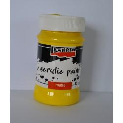 pentart farba akrylowa 100 ml żółta