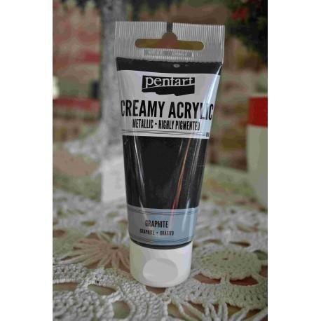 ***pentart farba creamy grafit met.60 ml
