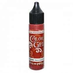 stamperia color gel czerwona miedź
