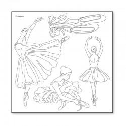 papier ryżowy 50*50 DFTM09 szkic baletnica