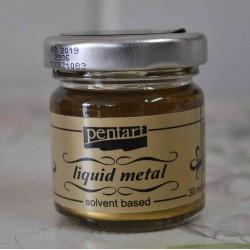 pentart płynny metal antyczne złoto 30 ml