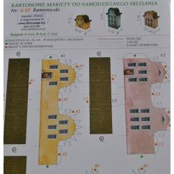 kartonowa makieta kamieniczki
