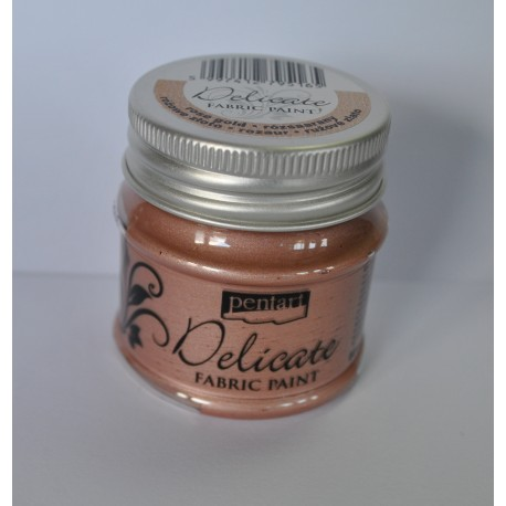 pentart farba delicate do tkanin 50 ml różowe złot
