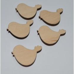 drew.ptaki 2,5*2 cm- opk.5 szt