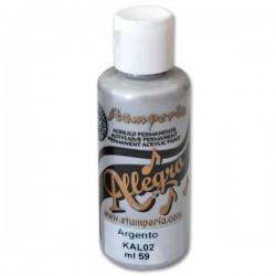 stamperia farba allegro 59 ml KAL02 srebrny