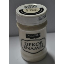 pentart farba emalia dekor biały krem 100 ml
