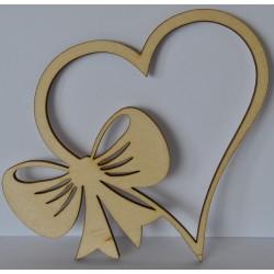 drew.mdf serca z boczną kokardą 8*9 cm