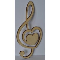drew.mdf nutka z sercem 6*12 cm