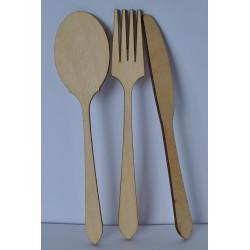 drew.sztućce kpl łyzka,widelec,nóż 3*13 cm