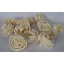 ***kwiaty natur.maniok róza 4cm/12szt