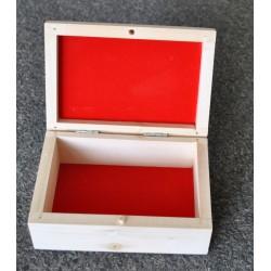 drew.szkatułka 13*8,5*5cm-czerwony flok w środku