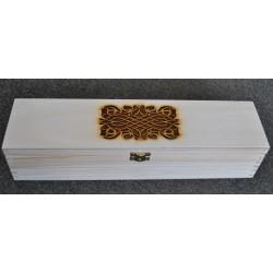 drew.pudełko 39*10*8cm wieko ażurowe