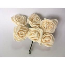 kwiaty z pianki wanilia /6 szt