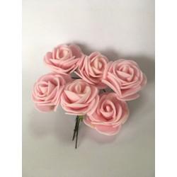 kwiaty z pianki różowe/6 szt