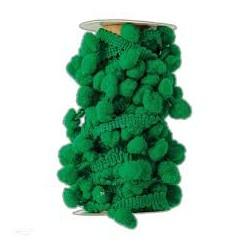 pompony na taśmie 3m zielony