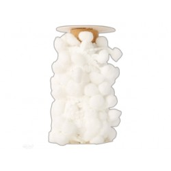 pompony na taśmie 3m biały