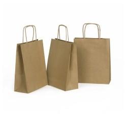 torba szara A-5 z rączka papierową