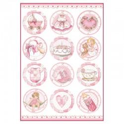 papier ryżowy DFSA4289 baby dziewczynka