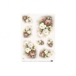 papier ryżowy 35*50 cm AM7716 bukiety róż
