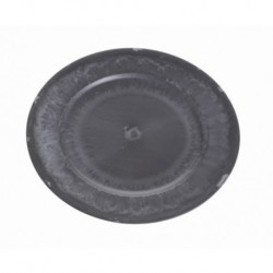 talerz dekoracyjny plast.czarna cyna 20 cm