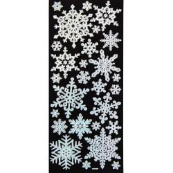 ***naklejki śnieżynki