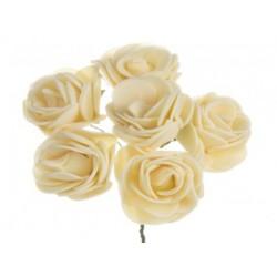 ***kwiat pianka 3 cm biała opk.6szt