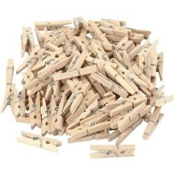 spinacz drewniany 2,5 cm opk.24 szt