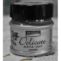 pentart farba akrylowa delicate met.50 ml srebro