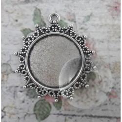 sz.metal medalion +kabaszon 25 mm opk.5 szt