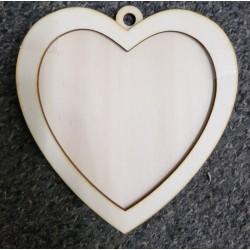 sklejka serce z rantem b.duze
