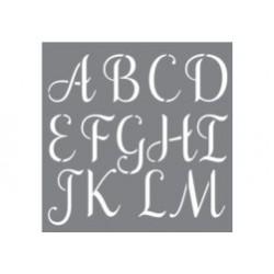 szablon 30*30cm alfabet zdobny 7 cm