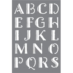 szablon 15*20 cm alfabet prosty 3,3 cm