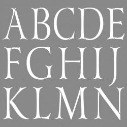 szablon 30*30 cm alfabet prosty 7 cm