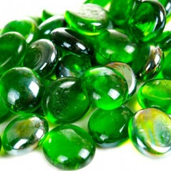 kamienie szklane 1,8cm - oczka -20 szt zielone