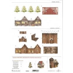 kartonowa makieta PM-002 domki