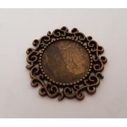 sz.metal baza kabaszon koronka 2,4 cm