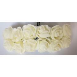 kwiatki z pianki 1,5 cm opk.12 szt białe