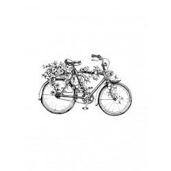 ***stempel gumowy 10*15 cm rower z kwiatami