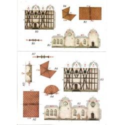 kartonowa makieta kościół A4